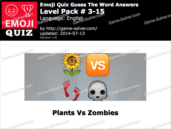 Emoji Quiz Guess the Word Level Pack 3-15