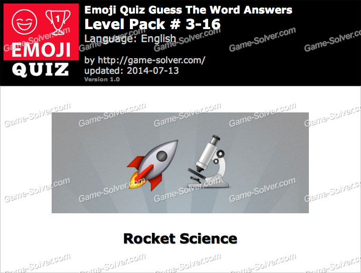 Emoji Quiz Guess the Word Level Pack 3-16