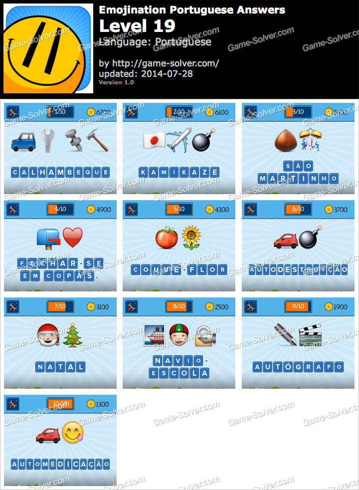 EmojiNation Portuguese Nível 19