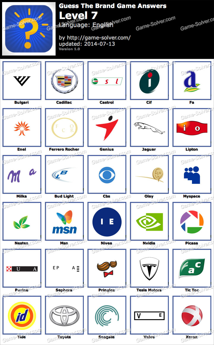 Guess Brand Logos Level 174. Logo Quiz Answers Level 6 ...