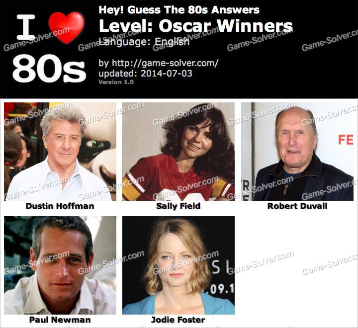 Hey Guess The 80s Oscar Winners Answers