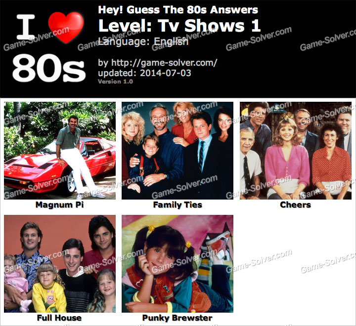 Guess the TV Shows 80s
