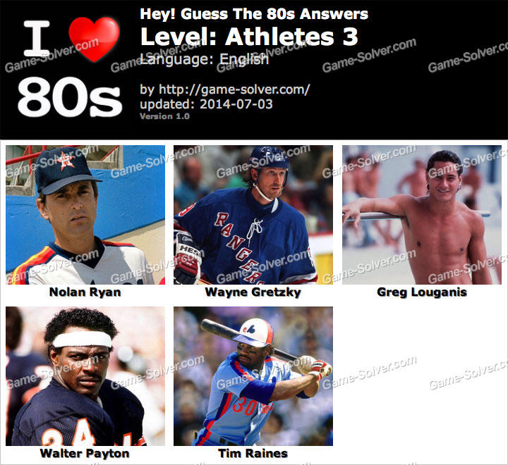 Hey Guess The 80s Athletes 3 Answers