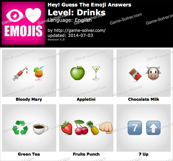 Cheats For Emoji Game Level  Drink