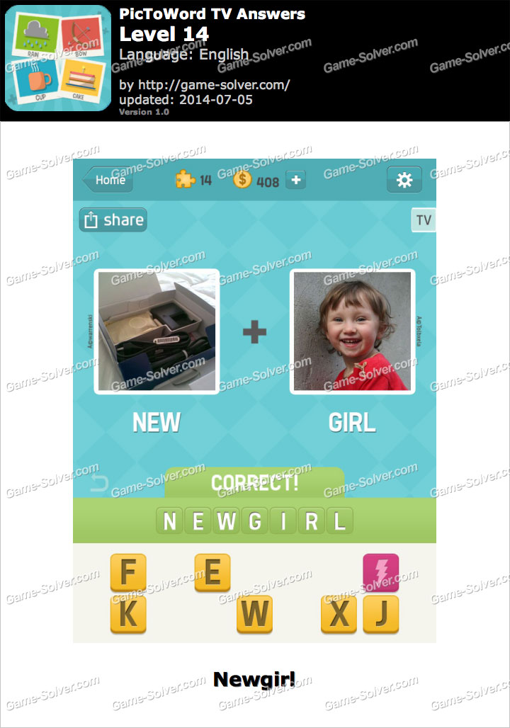 PicToWord TV Level 14 - Game Solver