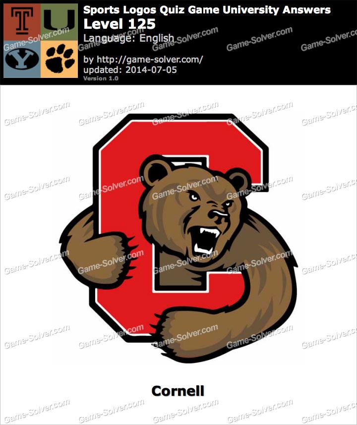 sports logos quiz game university level 125 game solver