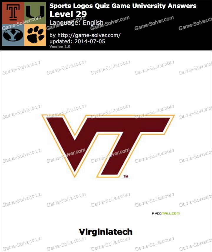 sports logos quiz game university level 29 game solver