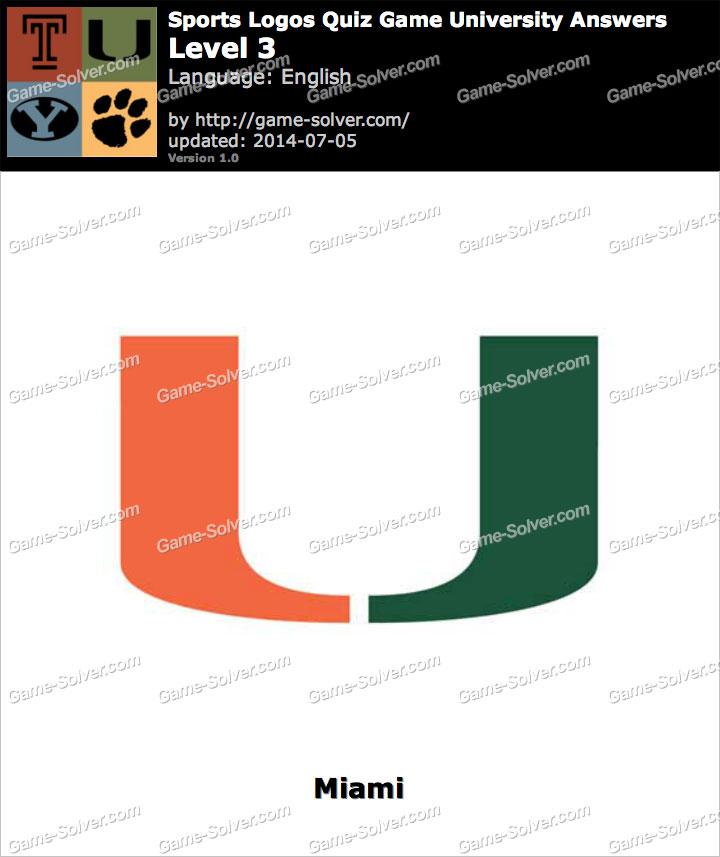sports logos quiz game university level 3 game solver