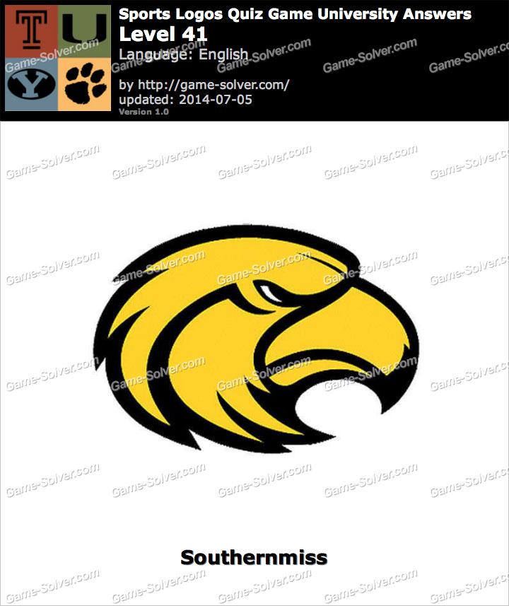 sports logos quiz game university level 41 game solver