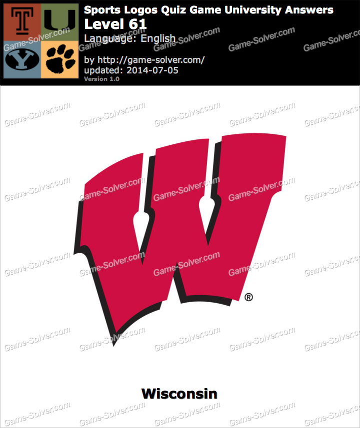 sports logos quiz game university level 61 game solver