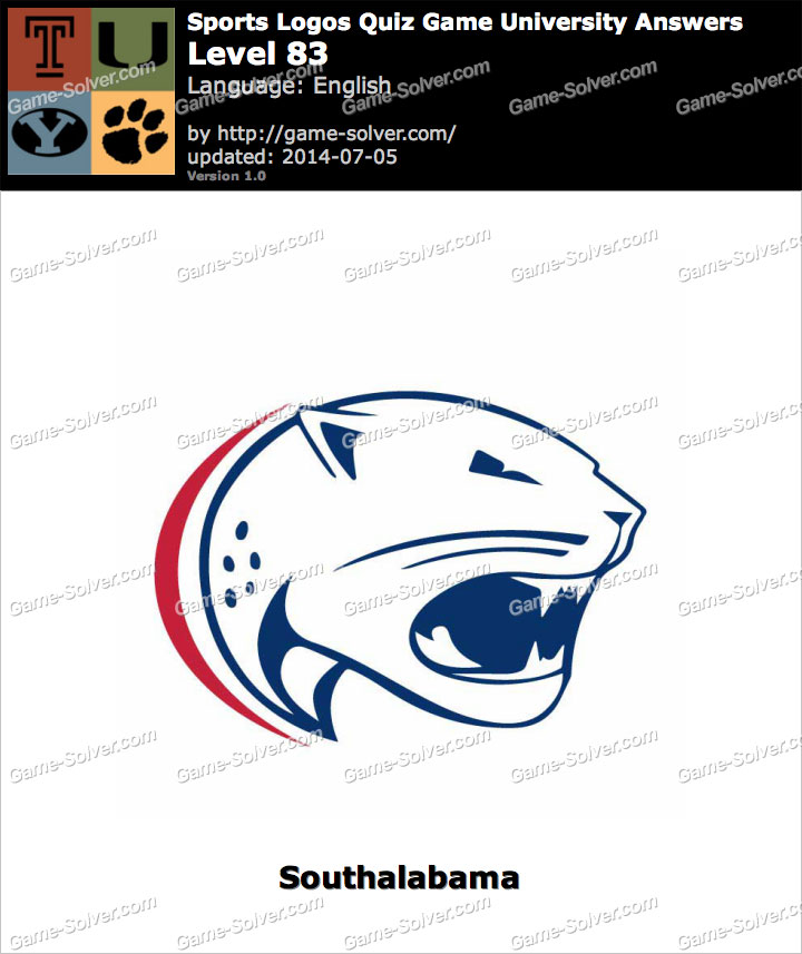 sports logos quiz game university level 83 game solver
