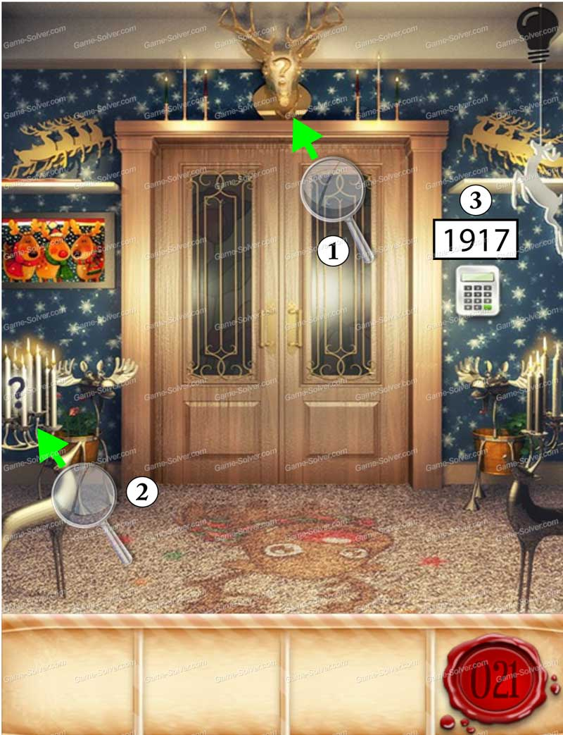 100 doors seasons part 1 level 21 game solver for Door 4 level 21