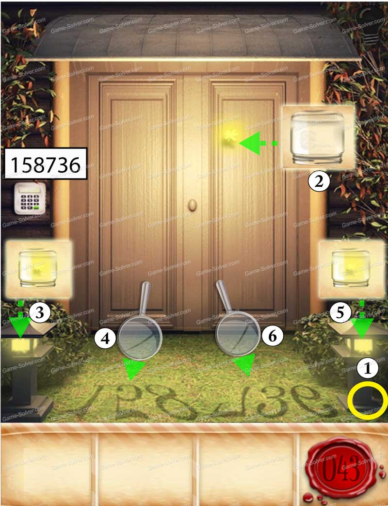 100 doors seasons part 1 level 43 game solver