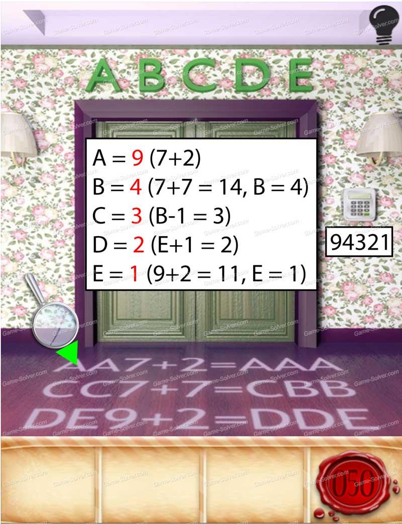 100 Doors Seasons Part 1 Level 50 Game Solver