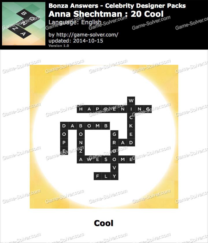 Celebrity Designer Sample Pack? - Bonza Word Puzzle ...
