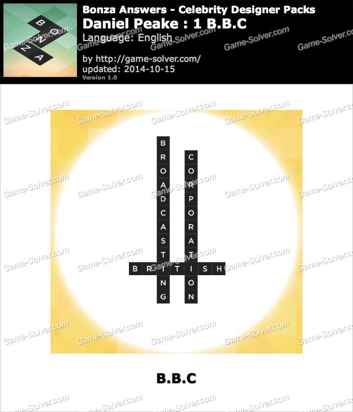 Bonza answers daniel peake 1 b b c game solver