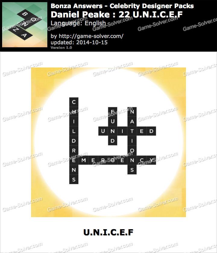 Celebrity designer sample pack - Bonza Word Puzzle Answers ...