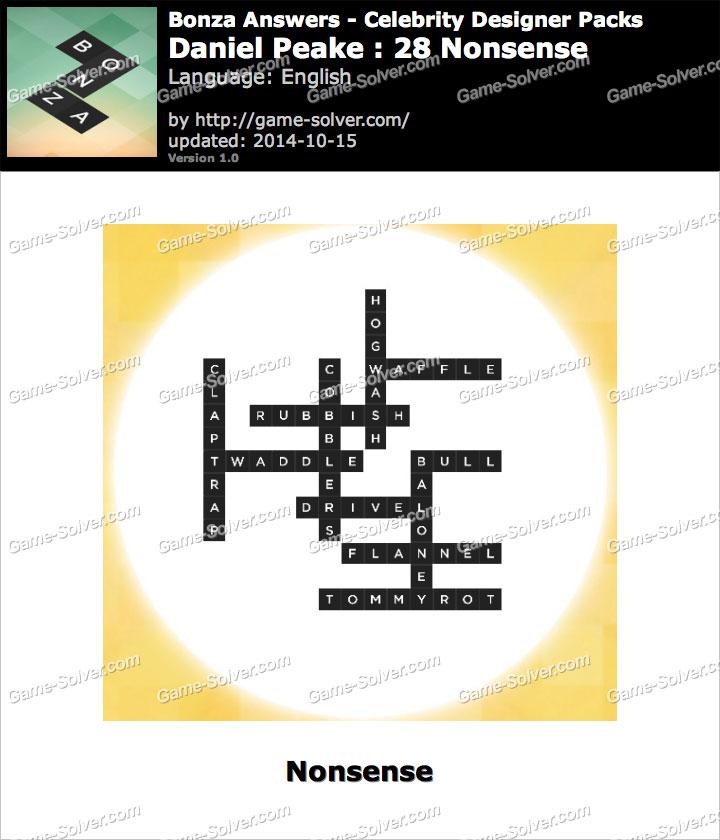 Bonza answers daniel peake 28 nonsense game solver