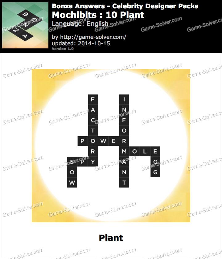 Bonza answers mochibits 10 plant game solver