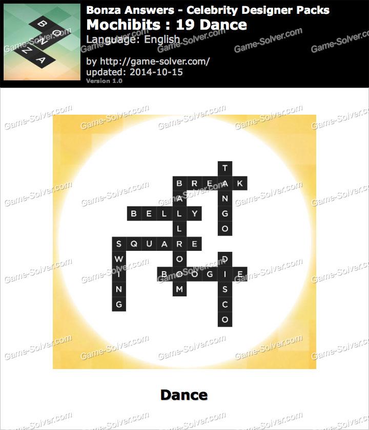 Bonza answers mochibits 19 dance game solver