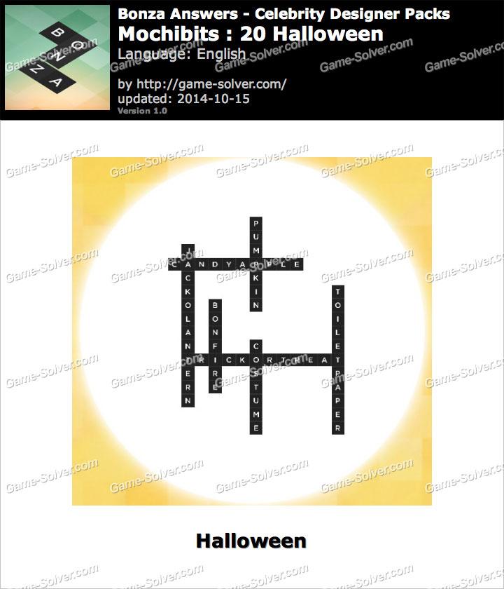 Bonza answers mochibits 20 halloween game solver