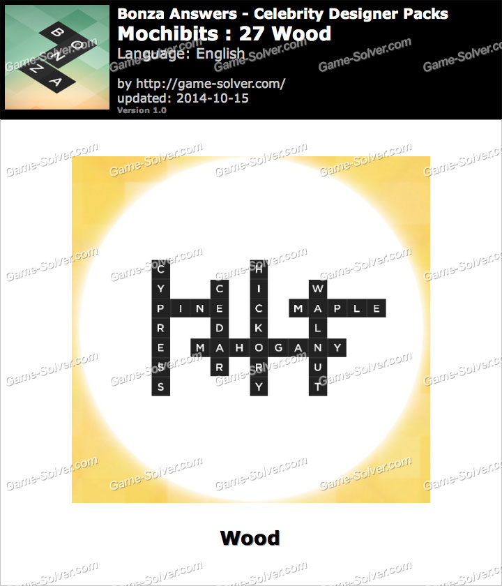 Bonza answers mochibits 27 wood game solver