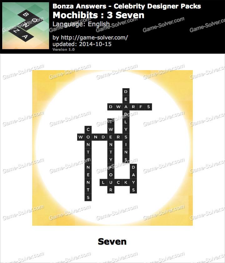 Bonza answers mochibits 3 seven game solver