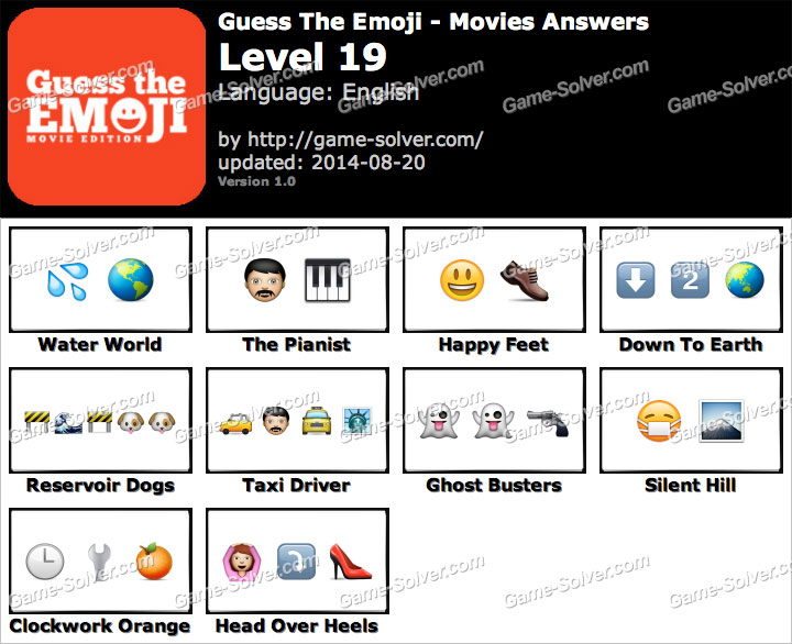 guess the emoji movies level 19 game solver