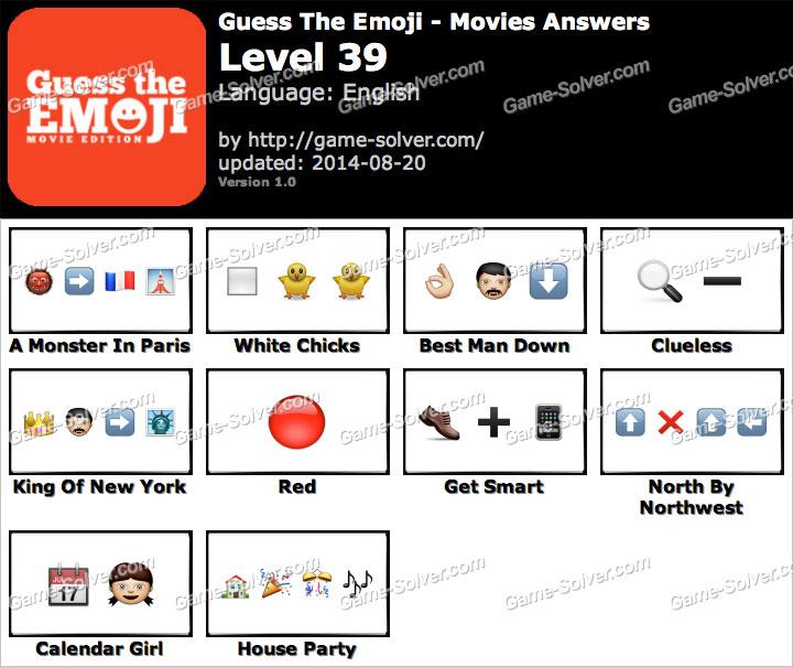 Level 39 Guess The Emoji Guess The Emoji Movies Level