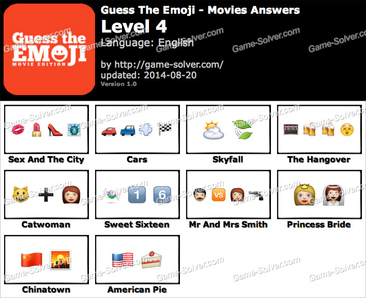 guess the emoji movies level 4 game solver