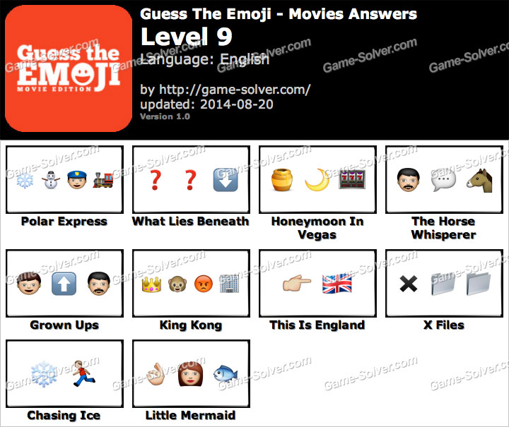 guess the emoji movies level 9 game solver