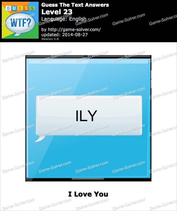 What does ily stand for in texting