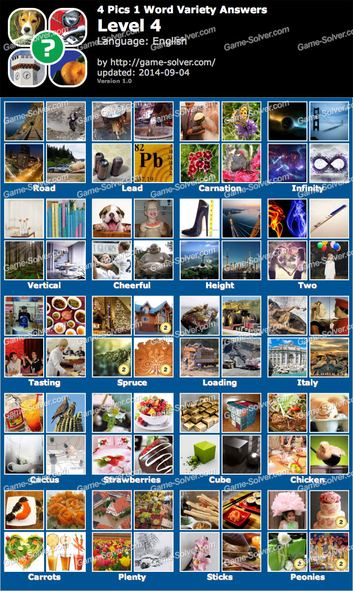 4 pics 1 word variety level 4 game solver 4 pics 1 word variety level 4 expocarfo Gallery