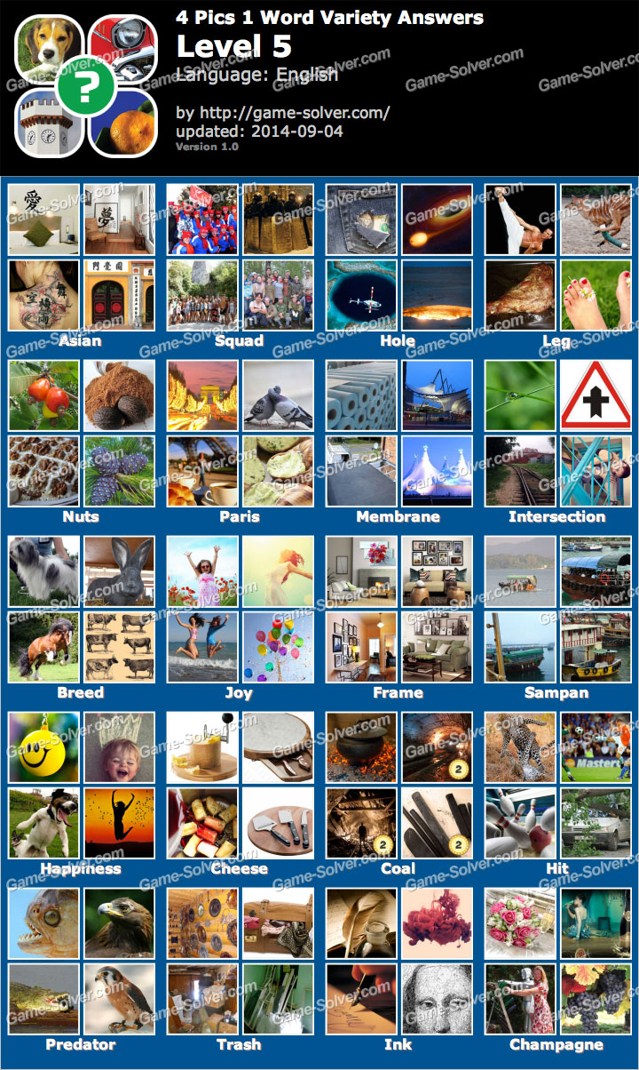 4 Pics 1 Word Answers For Android