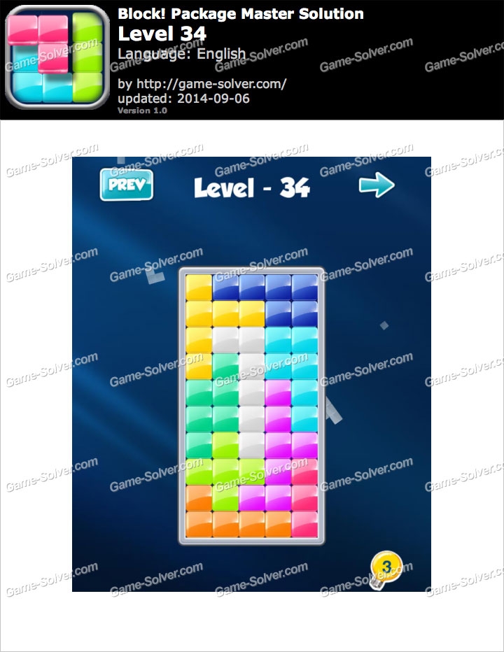 Block Package Master Level 34 Game Solver