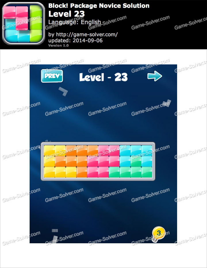 Block! Package Novice Level 23