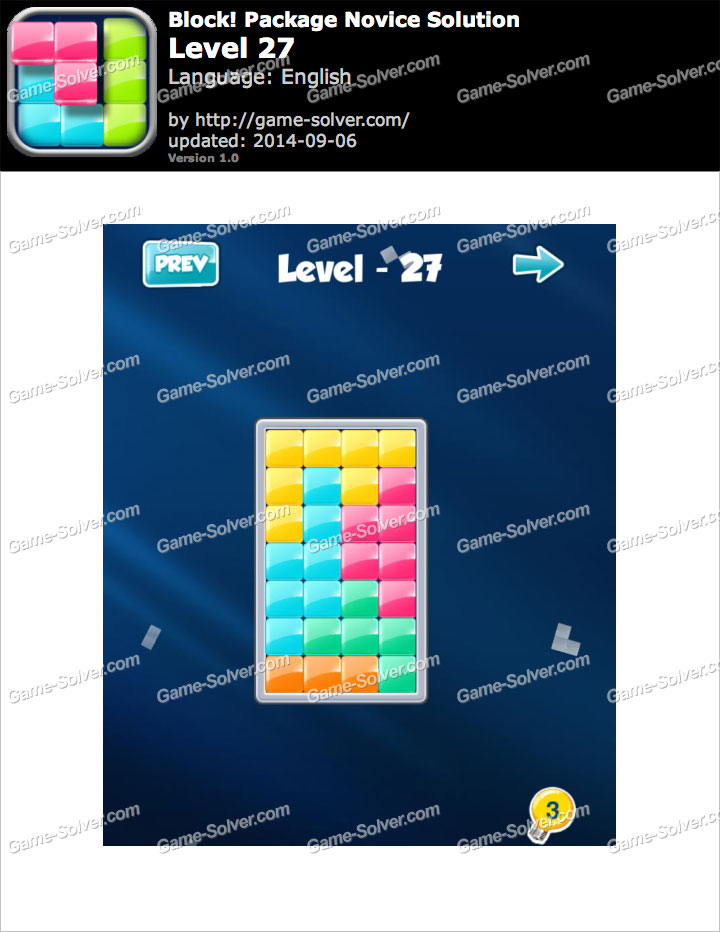 Block! Package Novice Level 27