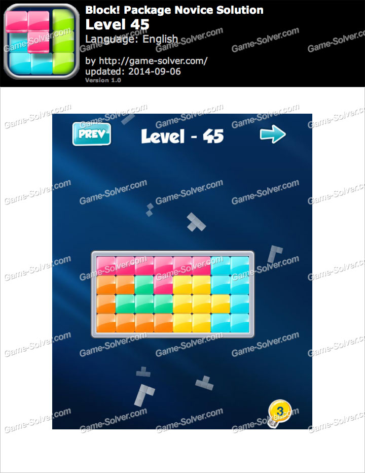 Block! Package Novice Level 45