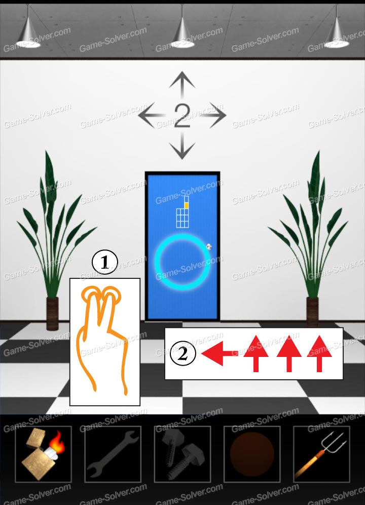 Dooors 4 level 21 game solver for Door 4 level 21