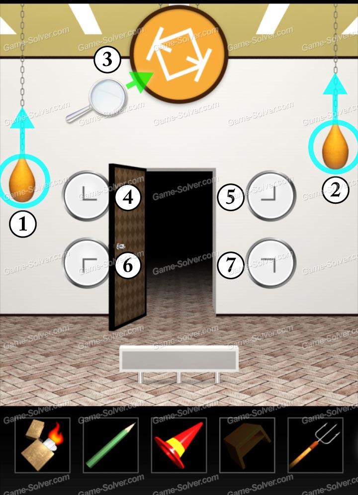 100 door escape scary house walkthrough windows phone for Minimalist house escape 4