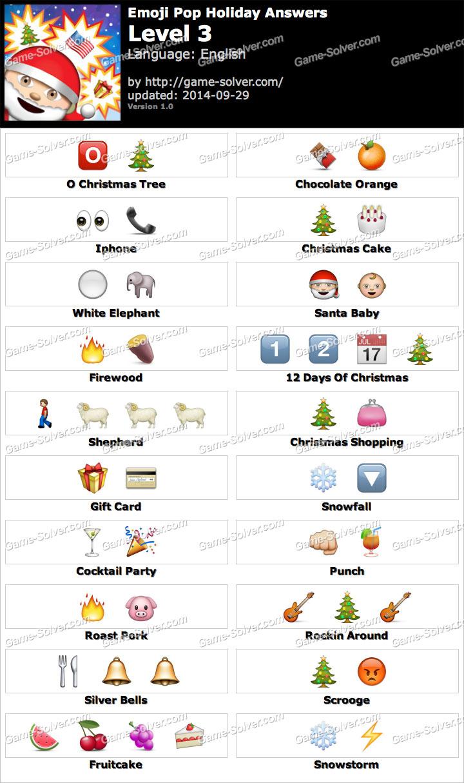 Emoji pop holiday edition level 3 game solver