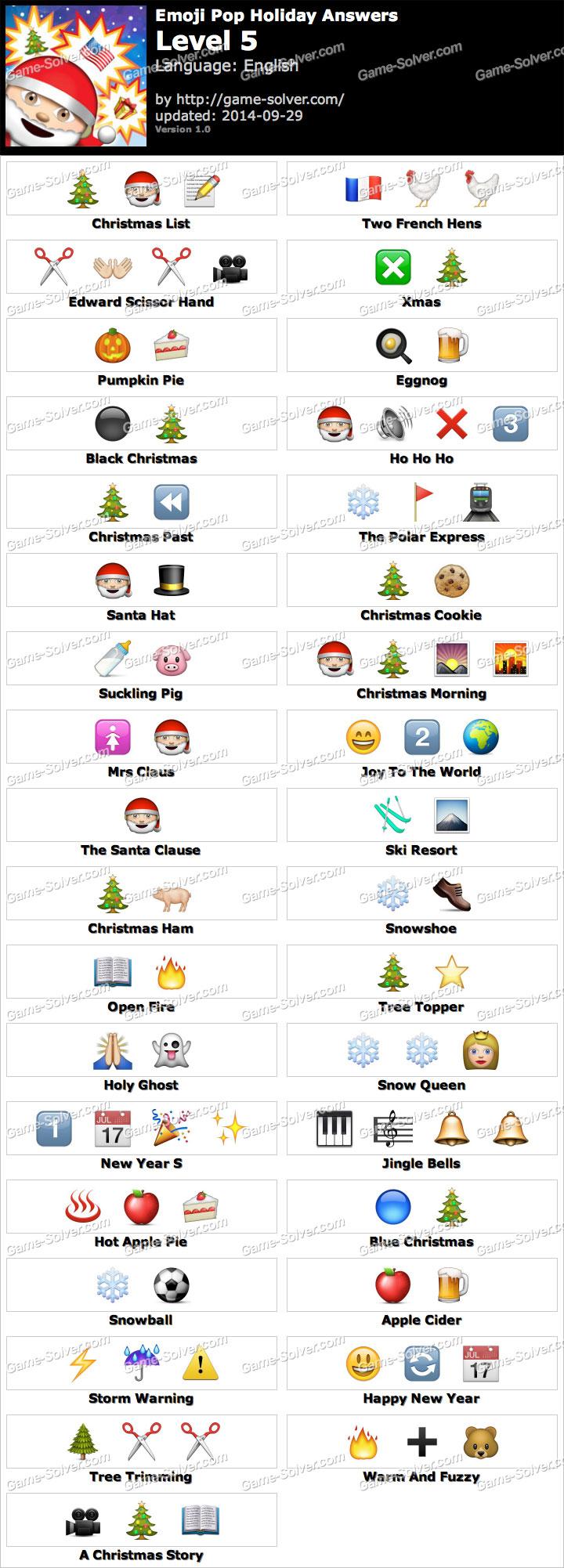 emoji pop holiday edition level 5