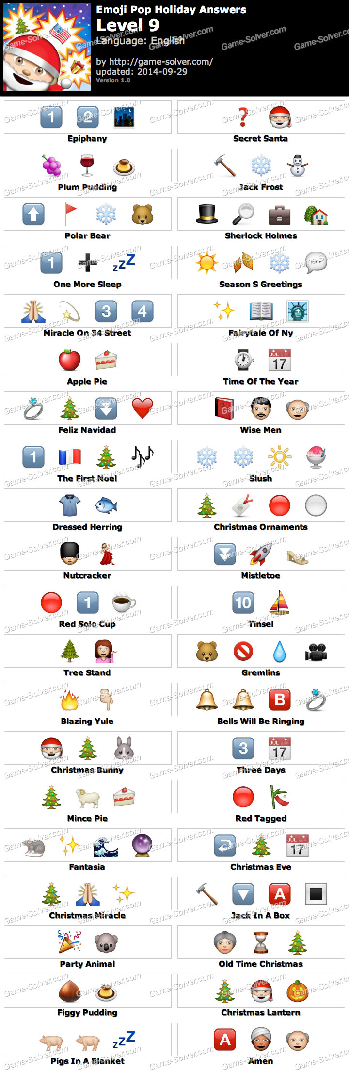 Emoji Pop Holiday Edition Level 9