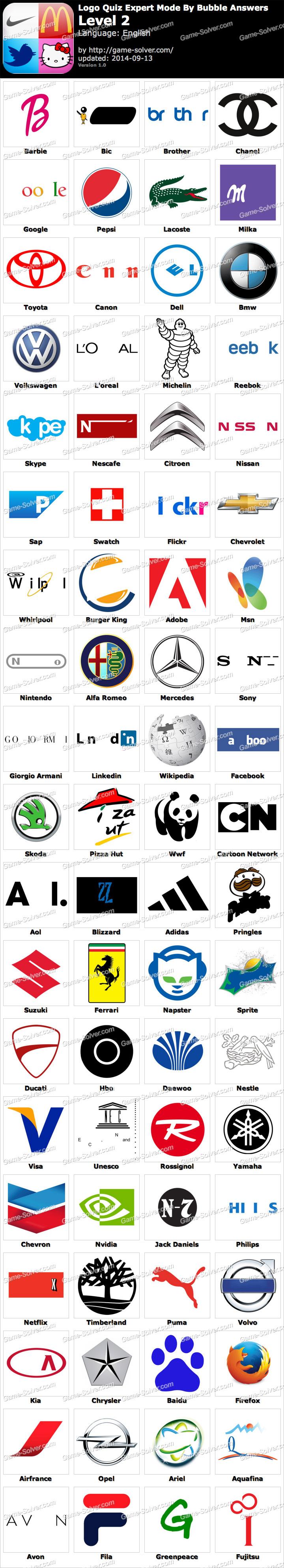 Logo Quiz Expert Mode Bubble
