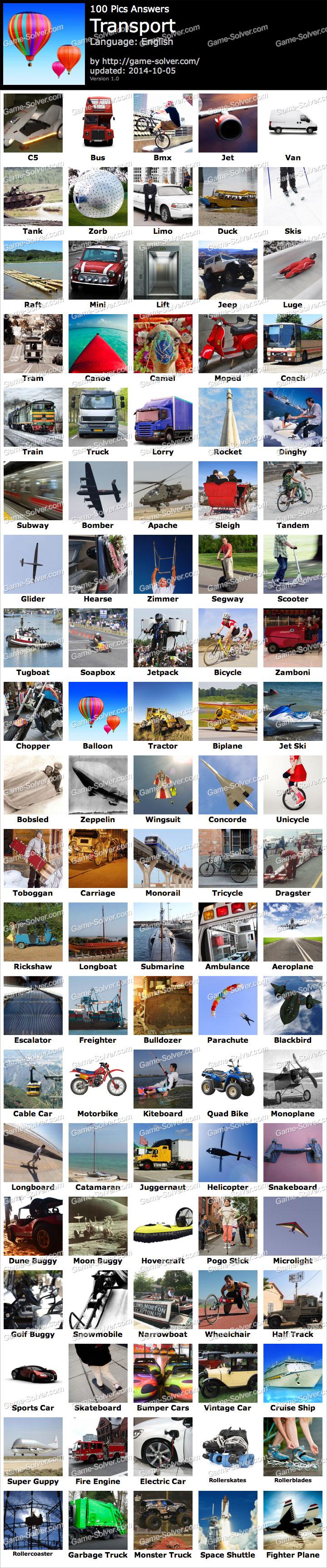 100 Pics Transport Game Solver