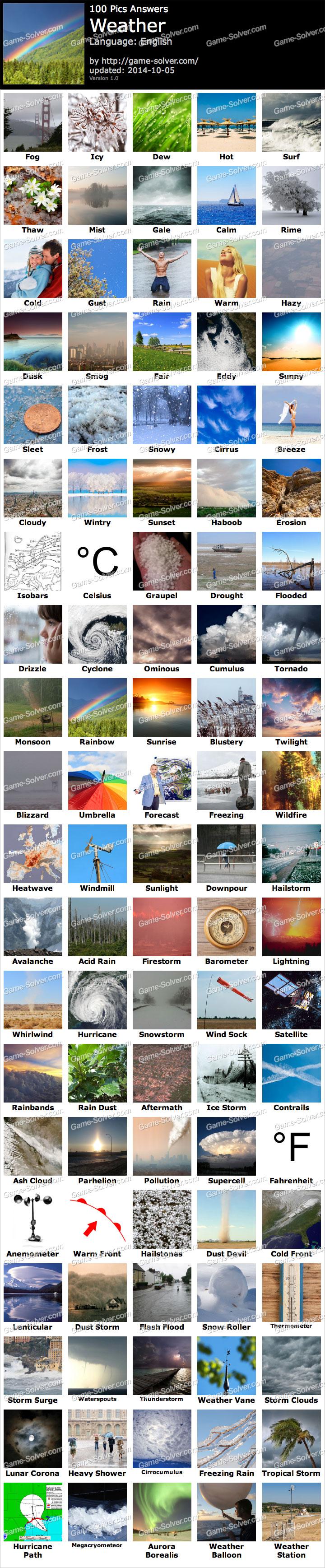 100 Pics Weather - Gam...