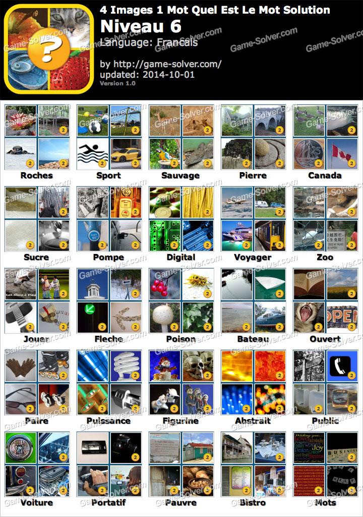 4 Images 1 Mot Quel Est Le Mot Niveau 6 Game Solver