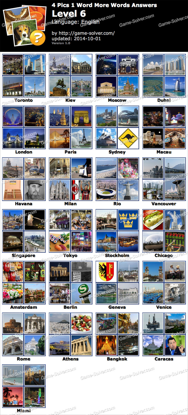 Pics 1 Word More Words Level 6 - Game Solver