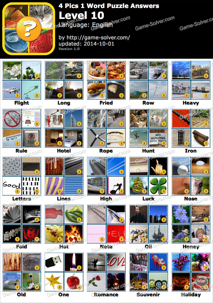 4 Pics 1 Word Puzzle Level 8 Game Solver