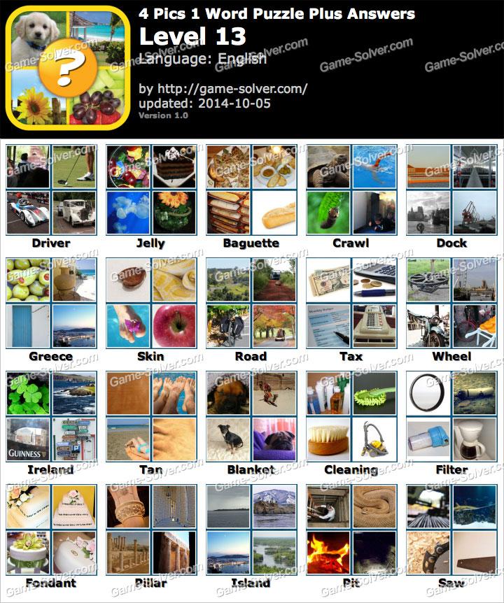Pics 1 Word Puzzle Plus Level 13 - Game Solver